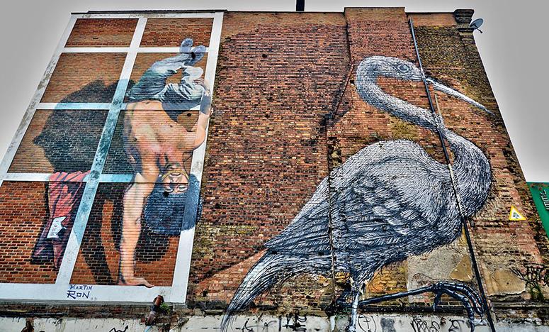 Crane by Peter Roa on Hanbury Street